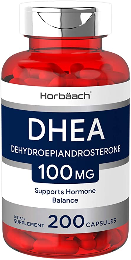 DHEA 100mg   200 Capsules   Non-GMO, Gluten Free Supplement   by Horbaach