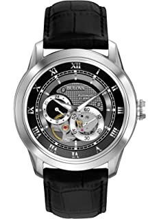 d2a895c8d Amazon.com: Bulova Men's Mechanical Hand Wind Stainless Steel and ...