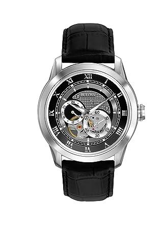 a33d874a3 Amazon.com: Bulova Men's 96A135 BVA-SERIES 120 Automatic strap Watch: Bulova:  Watches