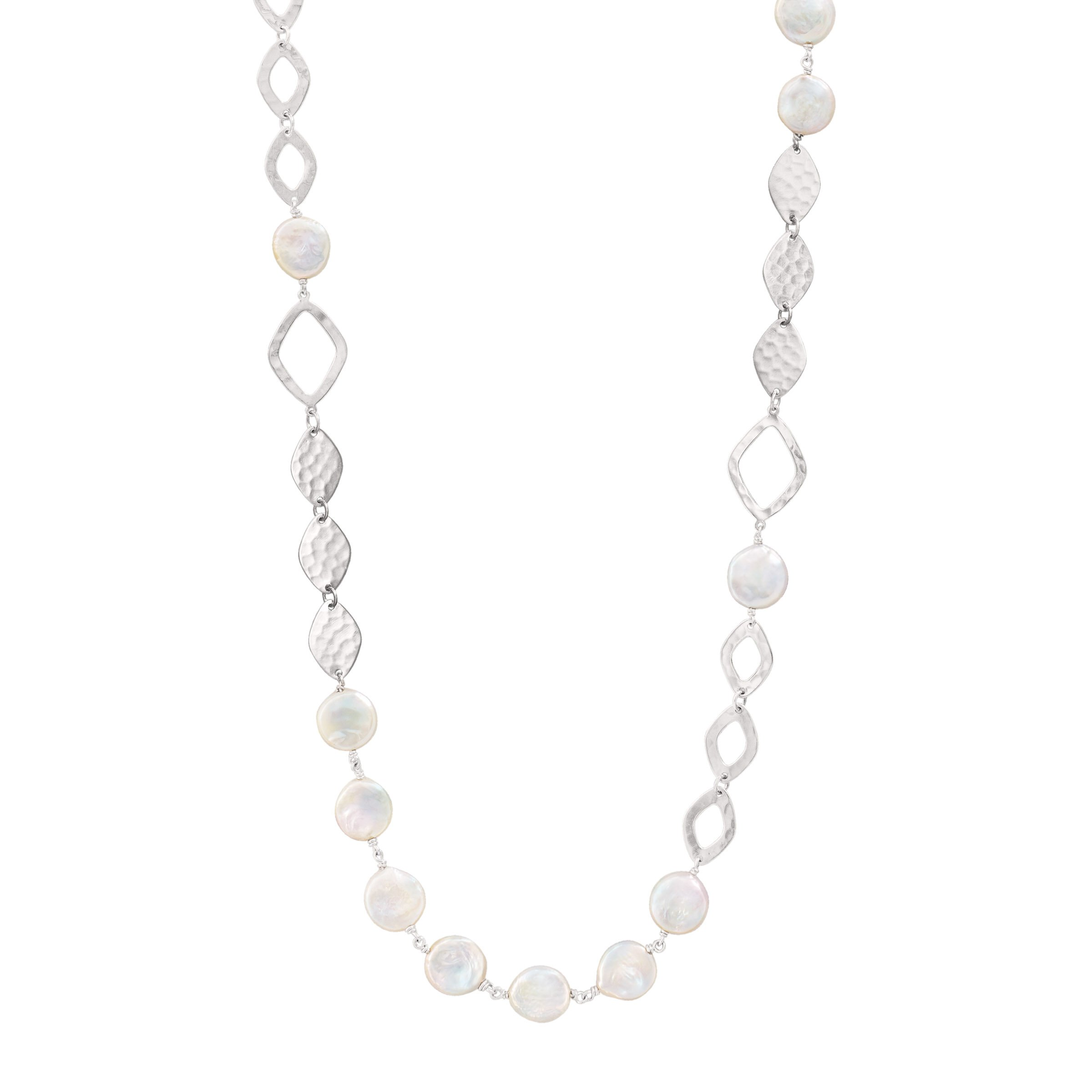 Silpada 'Perfect Pearl' Sterling Silver and Pearl (11mm) Necklace, 36''