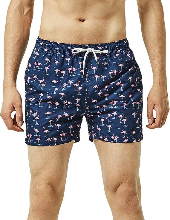 TALLA XS. MaaMgic Shorts de baño para Hombre Shorts de Playa Traje de bañode Secado rápido para Vacaciones