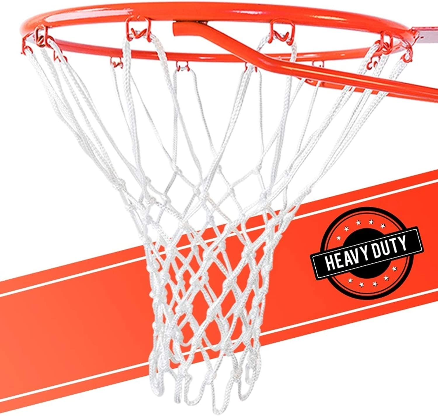 ULTRA Heavy Duty Basketball Net Replacement - All Weather Anti Whip, Fits Standard Indoor or Outdoor Rims - White, 12 Loops : Sports & Outdoors