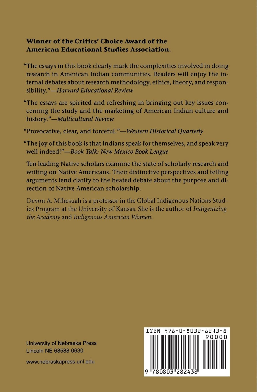 natives and academics researching and writing about american natives and academics researching and writing about american ns devon abbott mihesuah 9780803282438 amazon com books