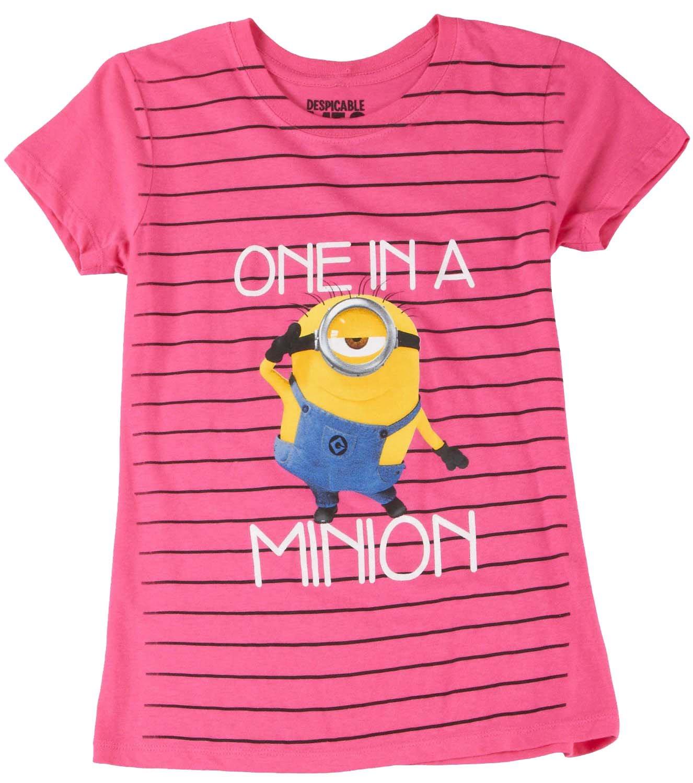 Despicable Me Stripe Minion T Shirt 4754