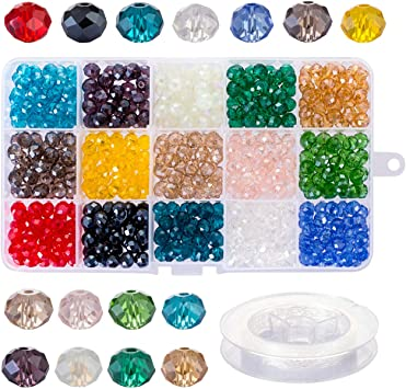 Lot of 500 pcs 8mm Assorted Colors Round Crystal Faceted Plastic Craft Beads
