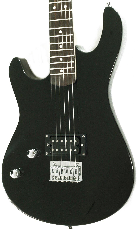 davison guitars full size black electric guitar with amp case and accessories pack beginner. Black Bedroom Furniture Sets. Home Design Ideas