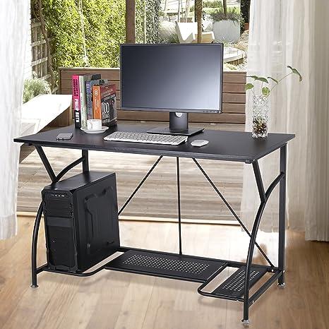 GOTOTOP Escritorio de Computadora Básica Mesa de Ordenador Portátil para Hogar Estudio Oficina Trabajo