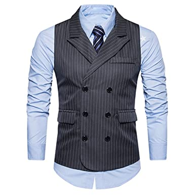 brand new 3b16f 3ee43 JYJM Herren Gestreifte Weste Männer Formale Jacke Tweed ...