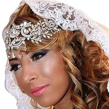 Headwear Tiara Hair Hoop Bride Headbands Wedding Hair Crown Leaves Hair Bands