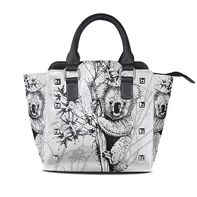 Amazon.com: Koala Art Painting Bolsos de piel Bolsas de ...