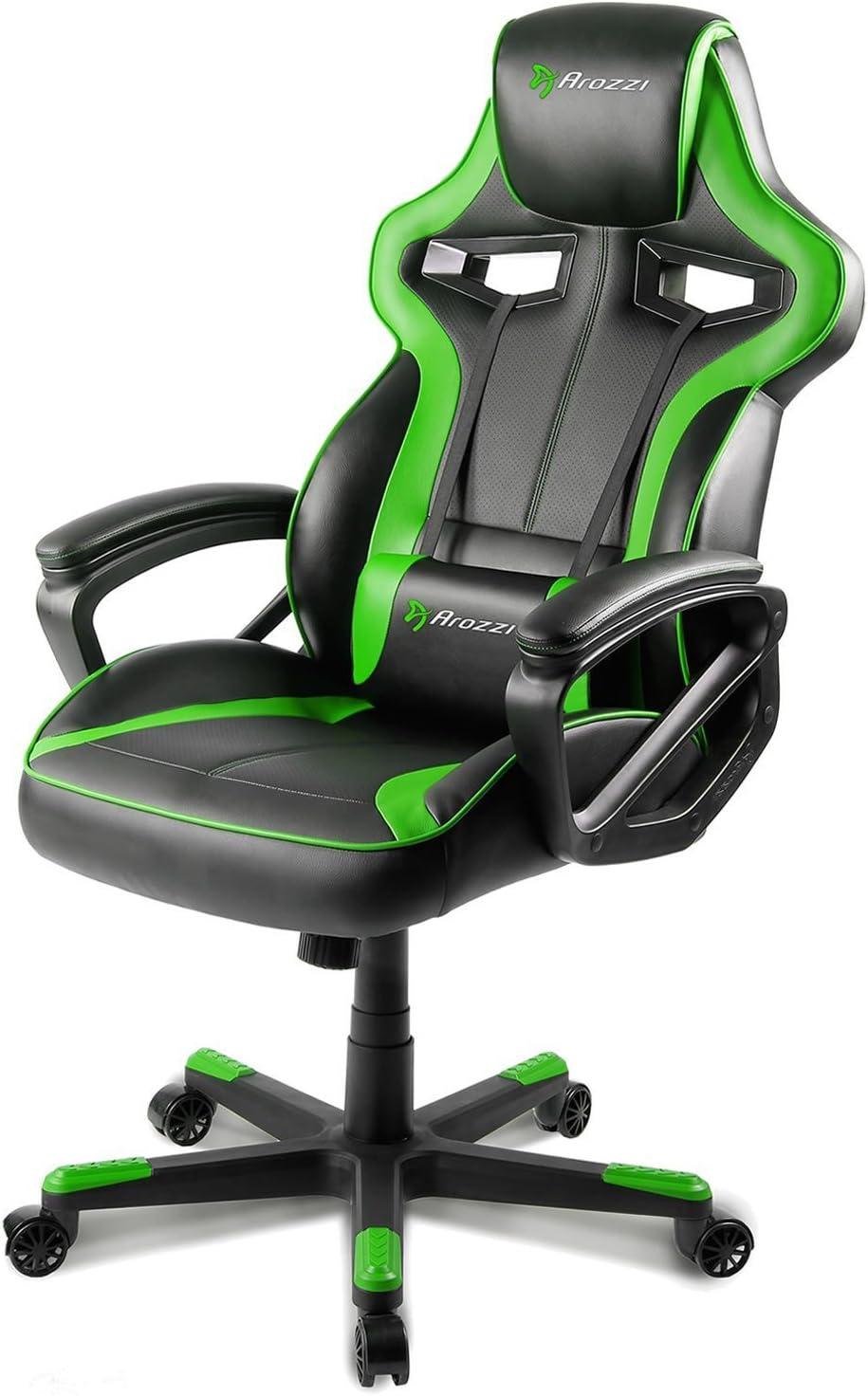 Arozzi Milano Enhanced Gaming Chair, Green