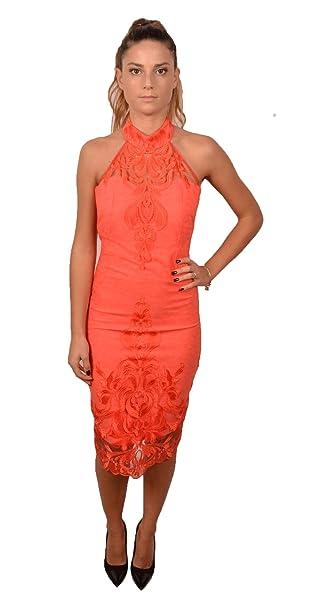 8c2cab4006c8 ALLURE Abito Cerimonia Donna Color Corallo 223700  Amazon.it  Abbigliamento
