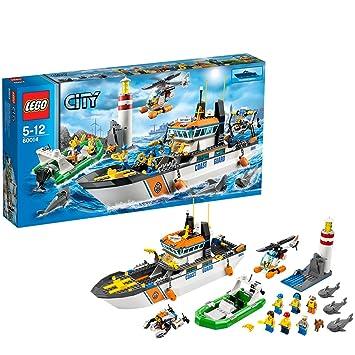 Lego City Coast Guard 60014 Coast Guard Patrol Amazon Toys