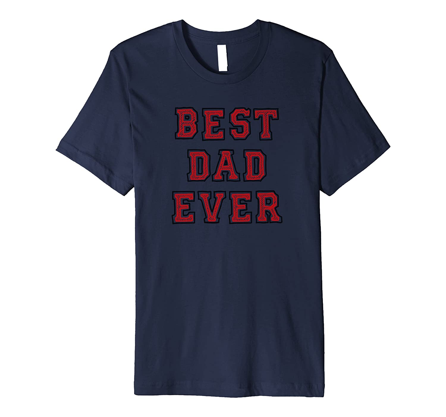 Best Dad Ever Red T-Shirt-ANZ