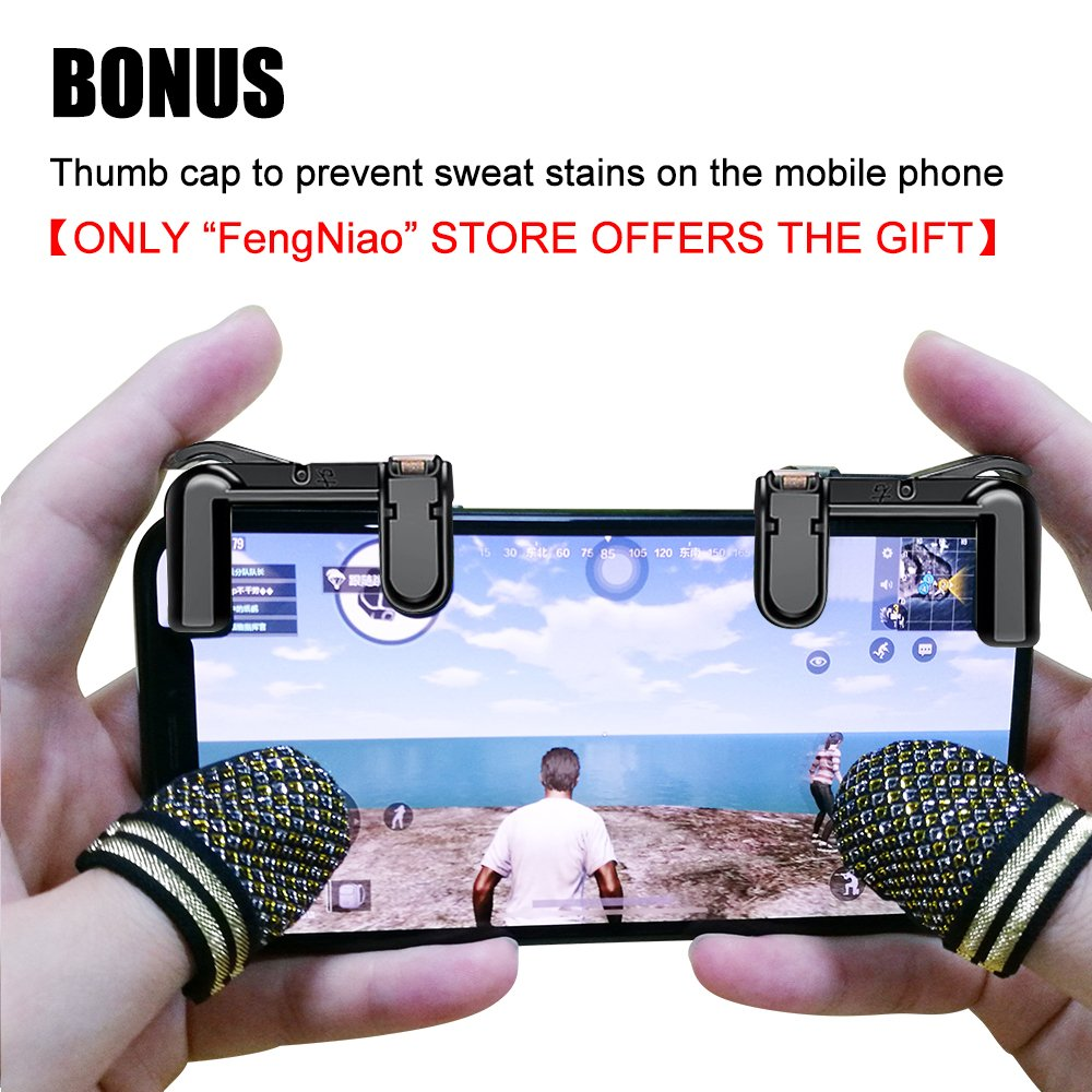 Mobile Game Controllernewest Version Fengniao Stick Pubg Pad Sensitive Shoot And Aim Buttons L1r1 For Knives Out Rules Of Survival