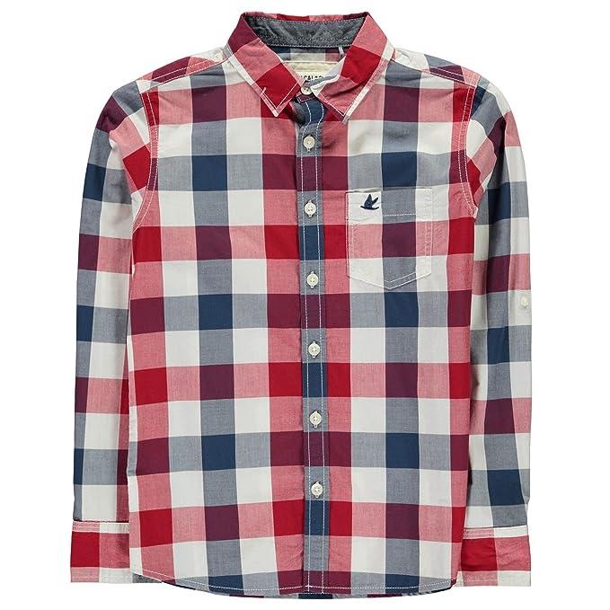 594ce831a Soul Cal Niños Camisa De Cuadros Manga Larga Rojo Azul Marino Blanco ...