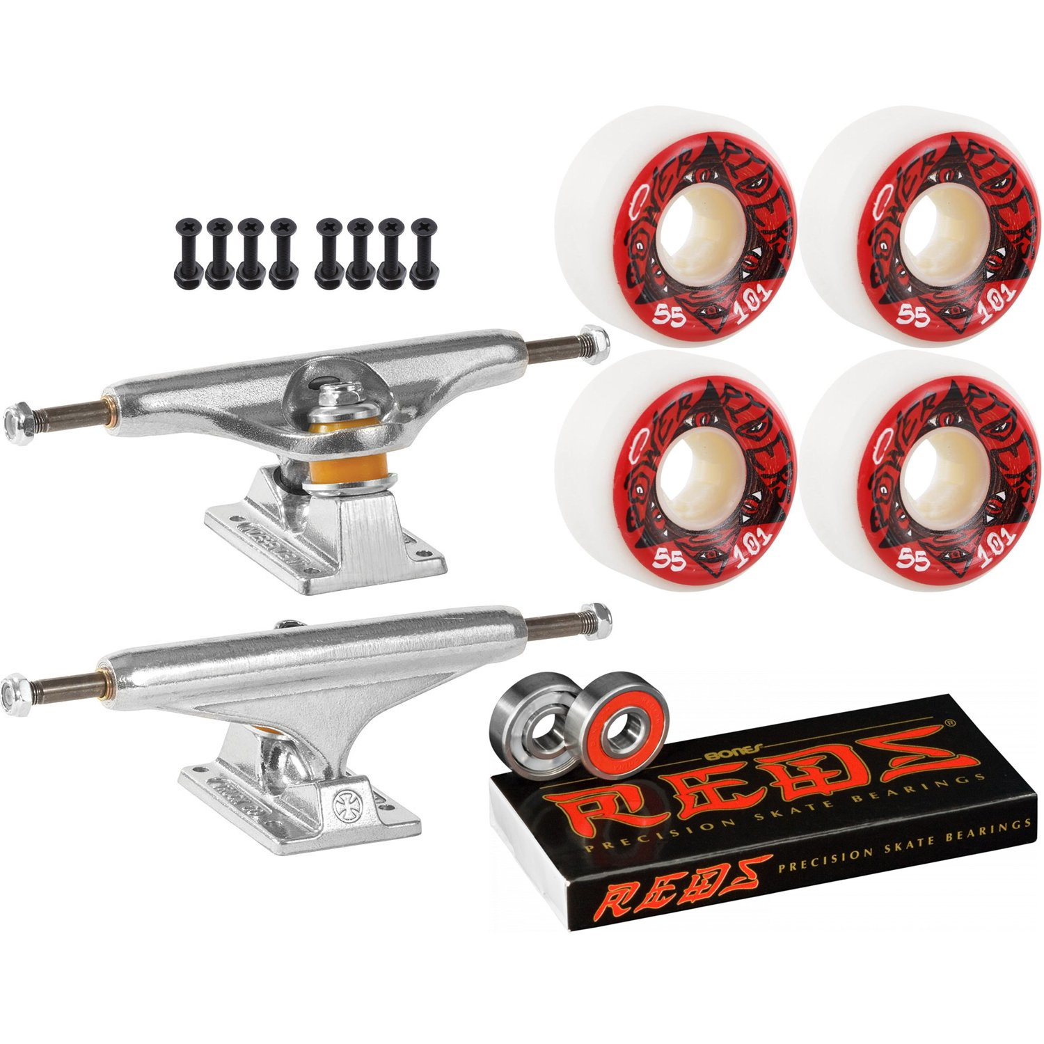 Independentスケートボードキット149 Trucks OJ III電源Riders 55 mm 101ホイールReds   B07CJVRWX9