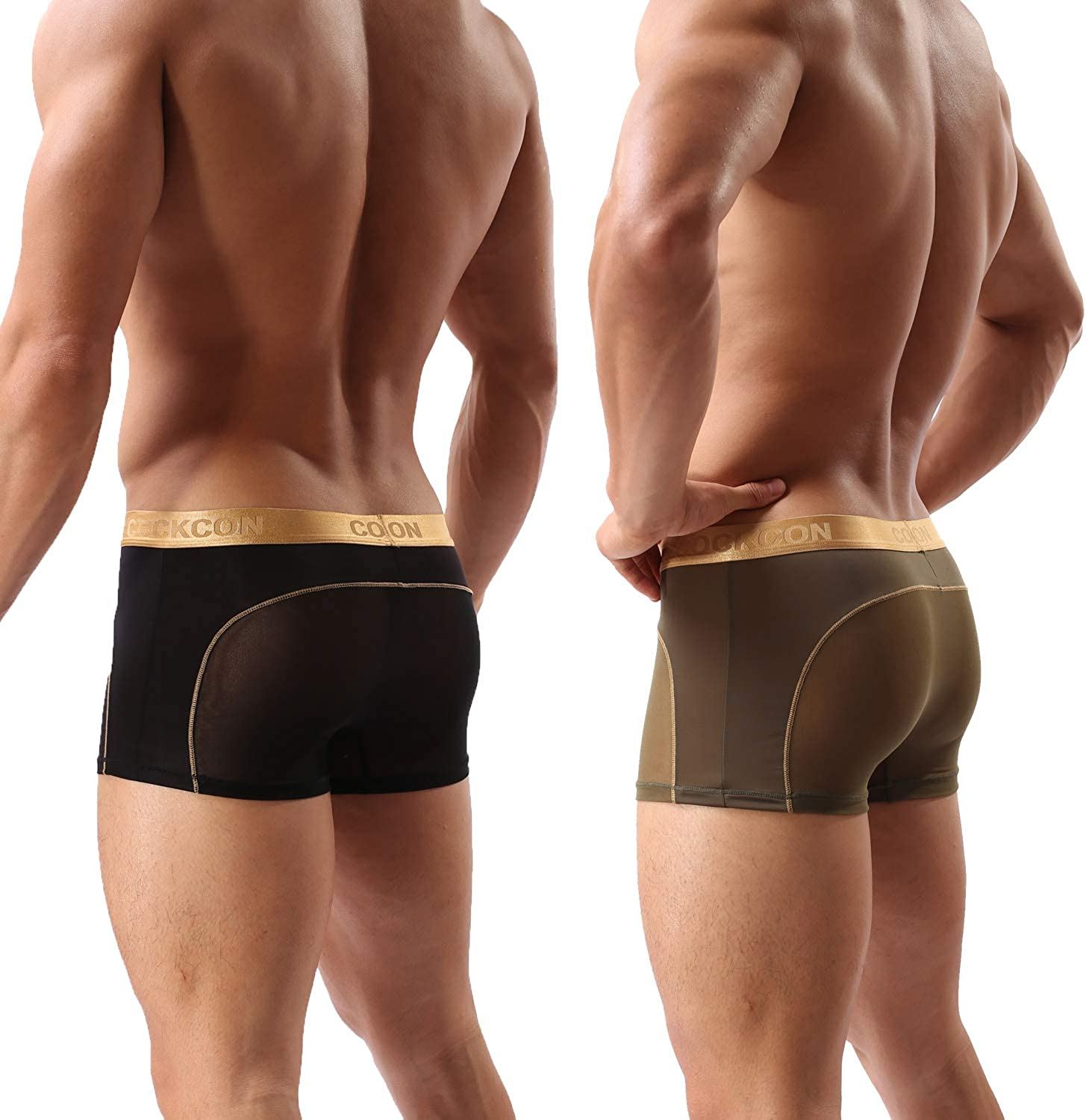 2 Pack of Mens Underwear Shorts See Through Panties Soft Underpants Men  Sexy Trunks Mesh Boxer Briefs for Male at Amazon Men's Clothing store
