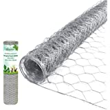 Amagabeli 2 inch Hexagonal Poultry Netting Galvanized Chicken Wire Mesh Fence 20gauge Large Frame with Chicken Netting…