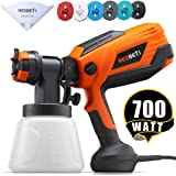 REXBETI 700 Watt High Power Paint Sprayer, 1000ml/min HVLP Home Electric Spray Gun with 1000ml Container, Easy Spraying…