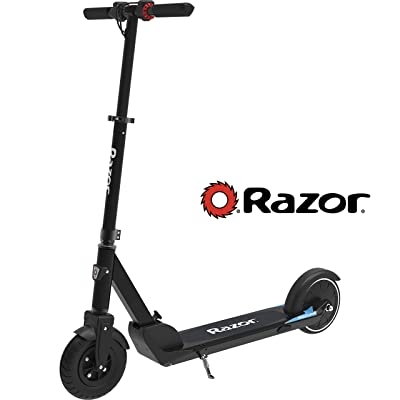 "Razor E Prime Air Electric Scooter - Up to 15MPH, 8"" Air Filled Front Tire, Rear Wheel Drive, 250W Brushless Hub Motor, Lightweight 21lbs, Anti-Rattle Aluminum Folding Electric Scooter for Adults : Sports & Outdoors"