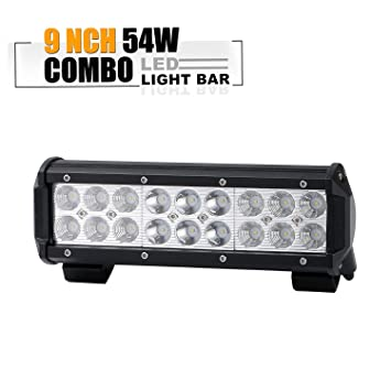 ef1c4e14ad8 54w 9in spot flood barra led largo alcance faros de trabajo led 12v-24v  focos