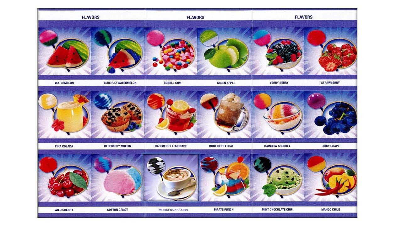 Linda's Lollies Gourmet Lollipops 96 Count Box With Wooden Display - Nut, Gluten & Dairy