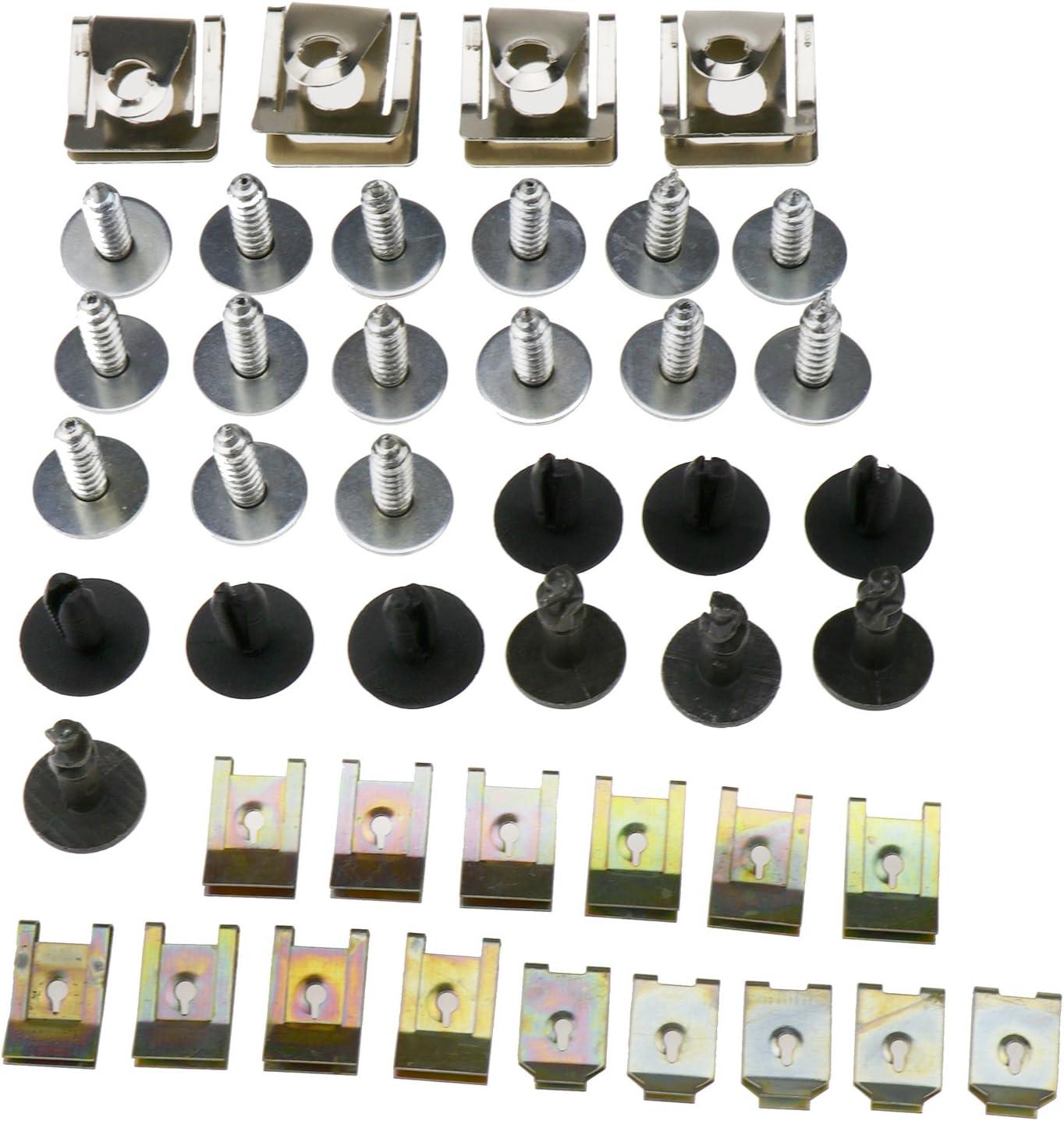 ENET Cubeta de Metal con 44 Pinzas para Motores bajo la Cubierta Inferior Protecci/ón contra Salpicaduras