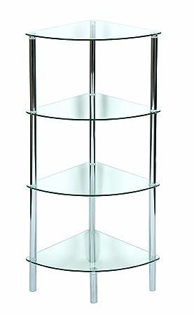etagere d'angle transparente