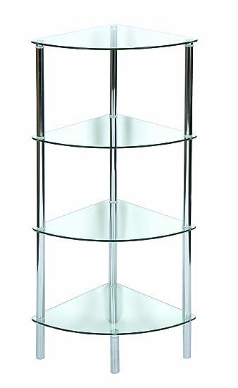 Elegant levv mobiletto ad angolo con ripiani in vetro - Mobile acquario ikea ...