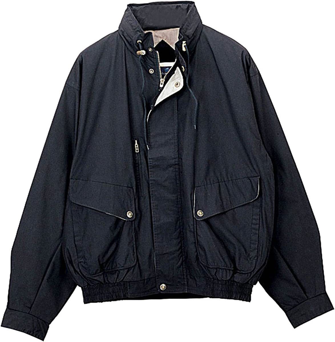 4 Color,S-6XLT Mens High Peak Poly//Cotton Water Resistant Shell Poplin Jacket