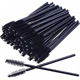 AKStore 100 PCS Disposable Eyelash Brushes Mascara Wands Eye Lash Eyebrow Applicator Cosmetic Makeup Brush Tool Kits (Black)