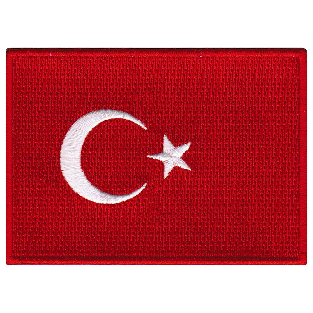 Turkey Flag Embroidered Patch Turk Turkish Iron-On National Emblem