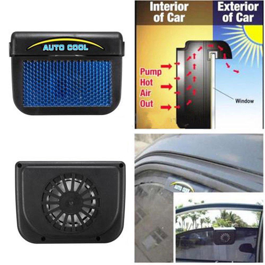 Providethebest Auto ventilatore del dispositivo di raffreddamento solare della finestra di automobile alimentato parabrezza Auto Air Vent VENTOLA per 2545655 Motor