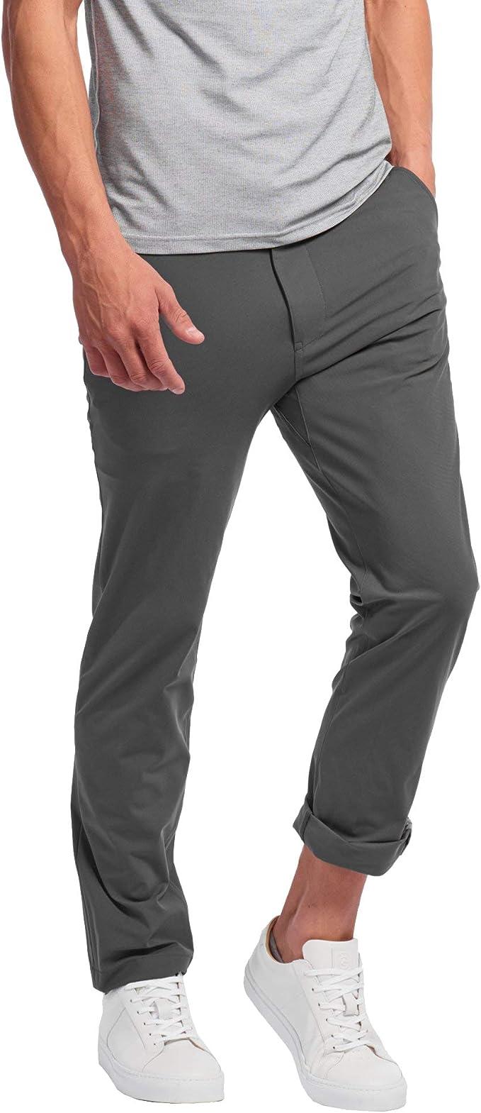 Rhone Men S City Pant 36 Inseam Straight Leg Flat Front Pants Pocket Reflector Asphalt 41 At Amazon Men S Clothing Store