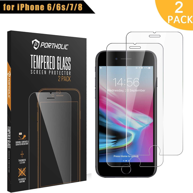 iPhone s  Protector de Pantalla Cristal Vidrio Templado Premium  PORTHOLIC
