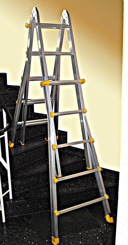 Teleskopleiter 4x6 Sprossen Klappleiter nach EN 131 BG Neu Anlegeleiter Treppenleiter Stehleiter
