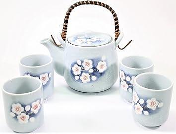 Asian ceramic tea set warmer infuser
