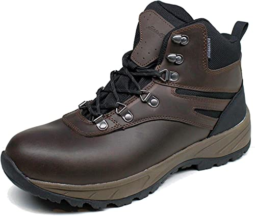 Eddie Bauer Men/'s Everett Hiking Boots Shoes Waterproof Leather Brown Size 9 New