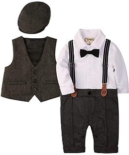 a848345128421 ZOEREA(ゾエレア) ベビーフォーマル ロンパース 赤ちゃん カバーオール フォーマル 男の子 子供服 結婚式服