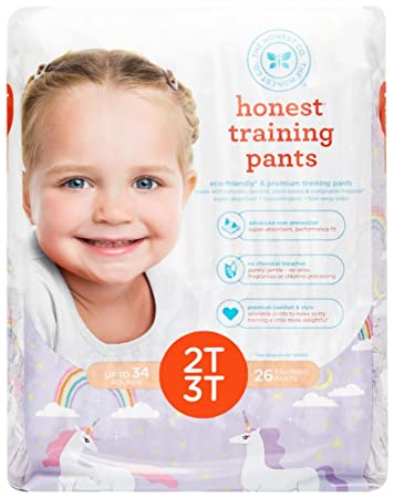 Honest Training Pants, Unicorns, 2T-3T, 26 Count