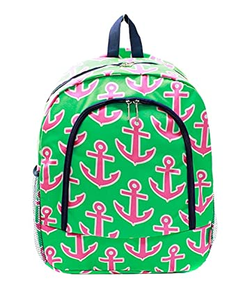 Amazon.com | Children's School Backpack (Anchor Lime Hot Pink ...