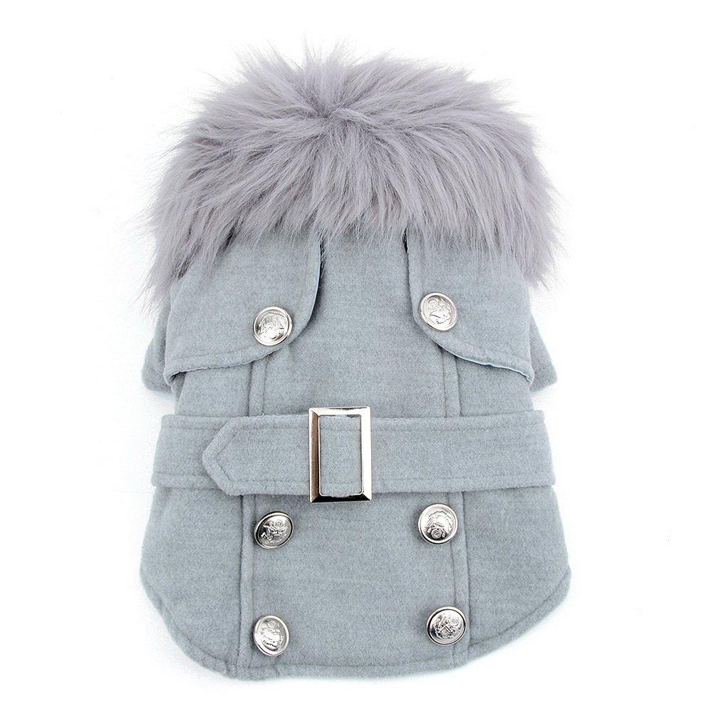 Manteau confortable pour l'automne et l'hiver manteau de chien veste d'hiver laine vêtements chauds rose XS SMALLLEE_LUCKY_STORE