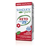 Slimquick Pure Keto Extra Strength Caplets, powerful dietary supplement, 60 count...