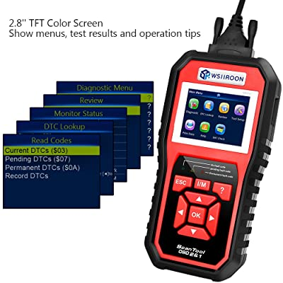 The Wsiiroon Professional OBDII Scanner is easy to master even for non-professional users.