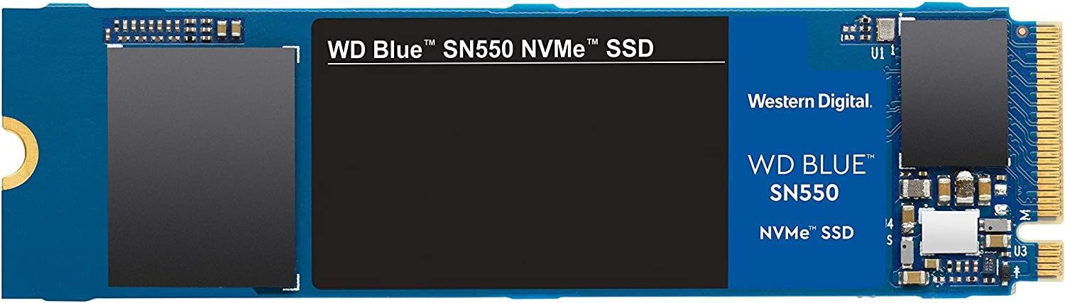 WD Blue SN550 250GB NVMe Internal SSD - Gen3 x4 PCIe 8Gb/s, M.2 2280, 3D NAND, Up to 2,400 MB/s - WDS250G2B0C