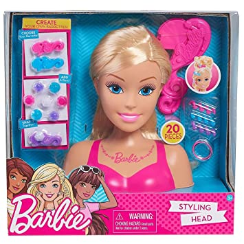 Barbie Glam Party 20 Piece Styling Head Set , Blonde Amazon