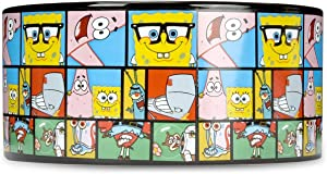 SpongeBob SquarePants Dog Food Bowl, 6 Inch - SpongeBob Dog Bowls, Ceramic Dog Bowls, Dog Food Bowl, Dog Food Storage Container - Ceramic SpongeBob Dog Bowl, Cute Dog Bowls, Dog Food Container
