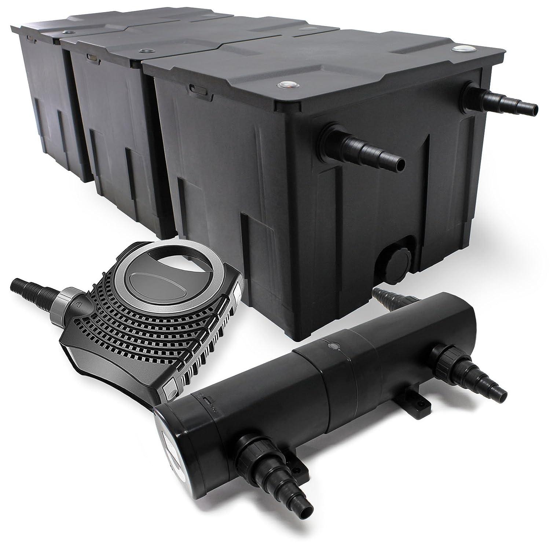 Bio Teichfilter 90000l 36W UVC Teichkl/ärer 80W Teichpumpe Set