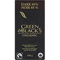 Green & Black's Organic Dark Chocolate with 85-Percent Cocoa, 100gm